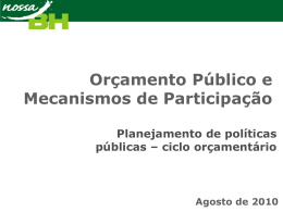 Módulo I - 09/08/2010 - Câmara Municipal de Belo Horizonte