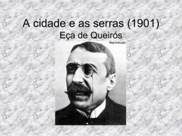 As cidades e as serras (1901) Eça de Queirós