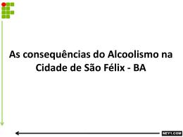 AS CONSEQÜÊNCIAS DO ALCOOLISMO NA CIDADE
