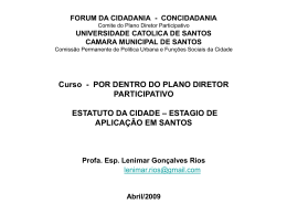 Estatuto da Cidade - Fórum da Cidadania de Santos