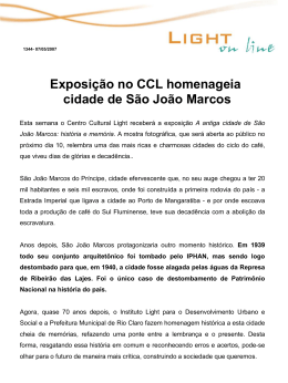 Exposição no CCL homenageia cidade de São João