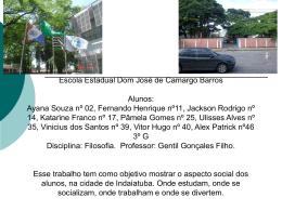 Escola Estadual Dom José de Camargo Barros Alunos