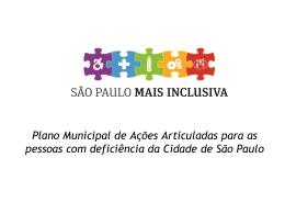 Plano Municipal de Ações Articuladas para as