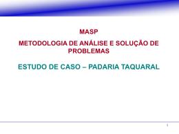 Aula12 - MASP - Caso Padaria - Exercício