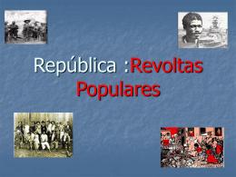 República Velha Revoltas