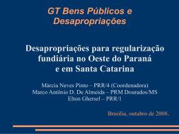 Desapropriações para regularização fundiária no Oeste do Paraná