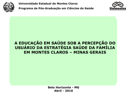 A prática de Educação em Saúde na ESF