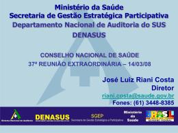 Apresentação - DENASUS - José Luiz Riani Costa