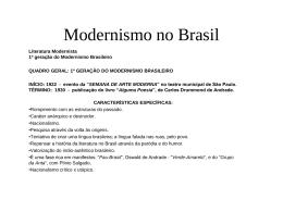 Modernismo Brasileiro Completo