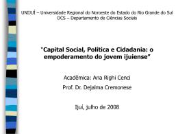 Cidadania no Brasil - Capital Social Sul