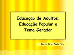 Educação de Adultos no Brasil