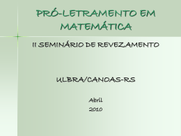 Resolução de problemas - Letramento em Matemática