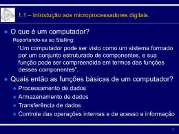 Tópicos em Microprocessadores Digitais - DEE