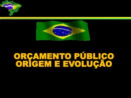 slides sobre origem e evolução do orçamento público