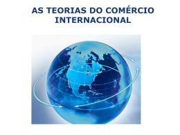 as teorias do comércio internacional introdução