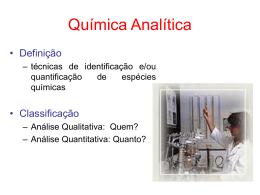 Aula_1_Introducao a Química Analítica