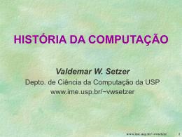 Historia da computação - IME-USP