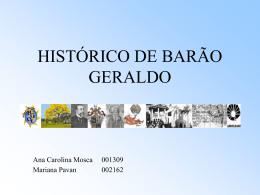 Historico de Barão Geraldo