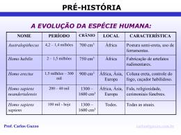 Pré-História - Prof. Carlos A. Guzzo