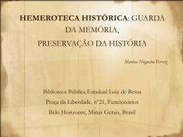 HEMEROTECA HISTÓRICA