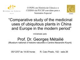 O PEPG em História da Ciência e o CESIMA da PUCSP convidam