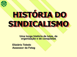 Historia do sindicalismo