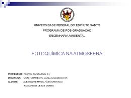Fotoquimica da atmosfera - Universidade Federal do Espírito Santo