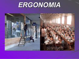 ERGONOMIA - Seguranca e Medicina do Trabalho