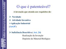 O que é patenteável?