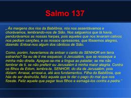 aula sobre o SALMO 137 com Gerson Brisola