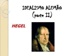 IDEALISMO ALEMÃO (parte II)