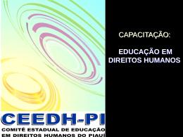 Educação me Direitos Humanos – Capacitação