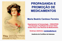 Propaganda e Promoção de Medicamentos