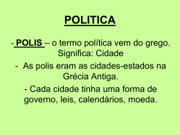 POLITICA - humanidades.net.br