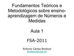 Apresentação 1 - Antonio Carlos Brolezzi