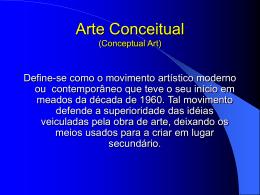 Arte Conceitual