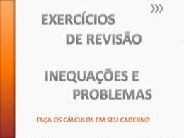 Problemas e inequações