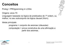 Introdução Prolog - Universidade da Madeira