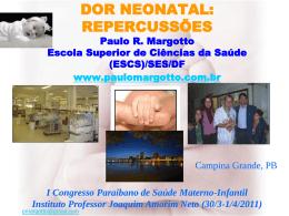 Dor Neonatal-Repercussões