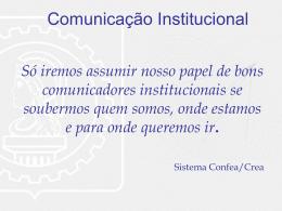 Comunicação Institucional - CONFEA / Francisco Machado da Silva