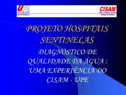 PROJETO HOSPITAIS SENTINELAS