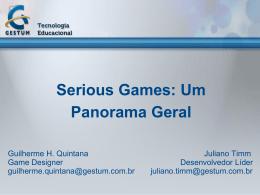 Serious Games: um panorama geral