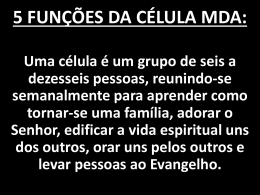 5 funções da célula mda - Primeira Igreja Batista de São Fidélis