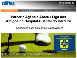 Abreu Travel Card - Liga dos Amigos do Hospital Distrital do Barreiro
