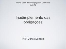 Slides - Inadimplemento - Acadêmico de Direito da FGV