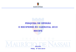 O recifense no Carnaval (fevereiro 2010)