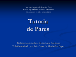Tutoria de pares