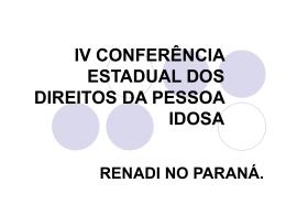 Realização da Conferência Municipal da Pessoa Idosa