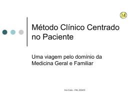 Tema3 - O método clínico centrado no paciente