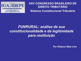 Robson Maia Lins – FUNRURAL
